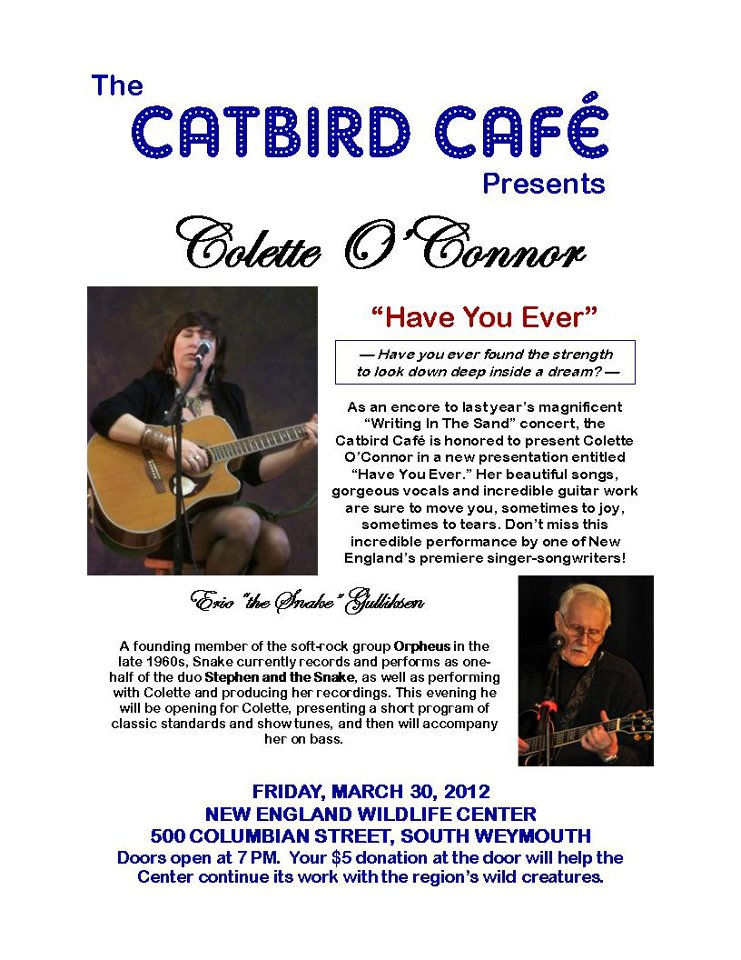 Colette O'Connor concert poster