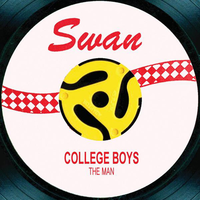 ''The Man'' - the College Boys - Rollercoaster Records digital release promotional artwork