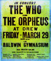 Orpheus Concert Poster - 1968